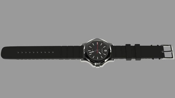 watch inox 3d model