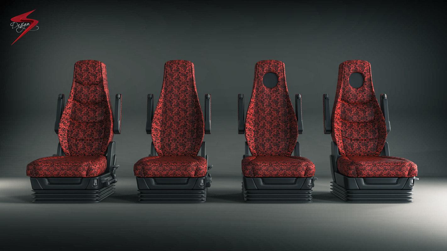 truck seat 3d obj