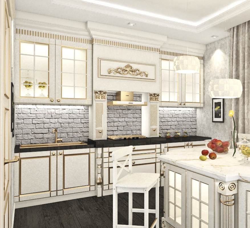 kitchen scene 3d max
