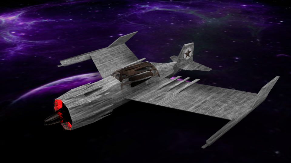 free blend model space ship