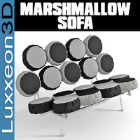 furniture marshmallow sofa 3d max