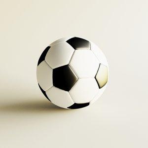 3d model of icosahedron football