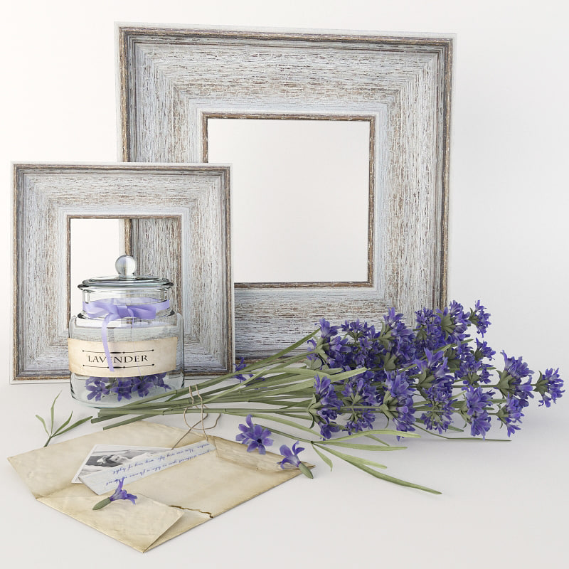 lavender set 3d model