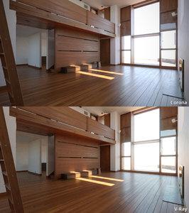 3d esherick house louis kahn model