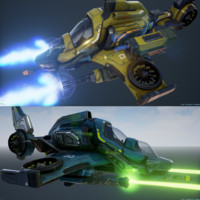 3d pack variations scout ship model