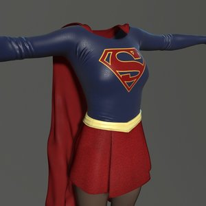 supergirl cw suit 3d model
