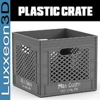 3d plastic milk crate