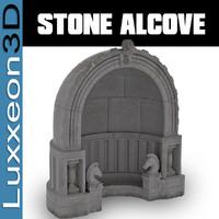 stone alcove 3d max