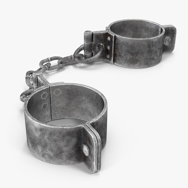 3d old prisoners leg shackles model