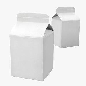obj pint milk carton generic