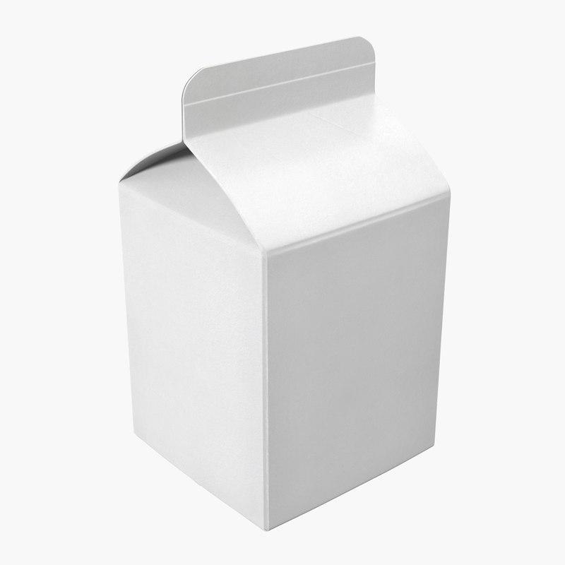 Pint Milk Carton Generic Template 3D Model