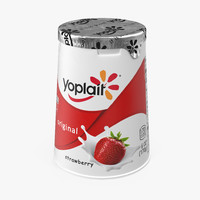 3d model of yogurt cup yoplait
