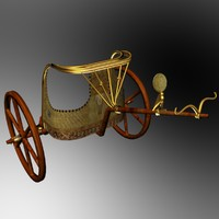 king chariot egyptian 3d max