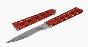 3d butterfly knife model