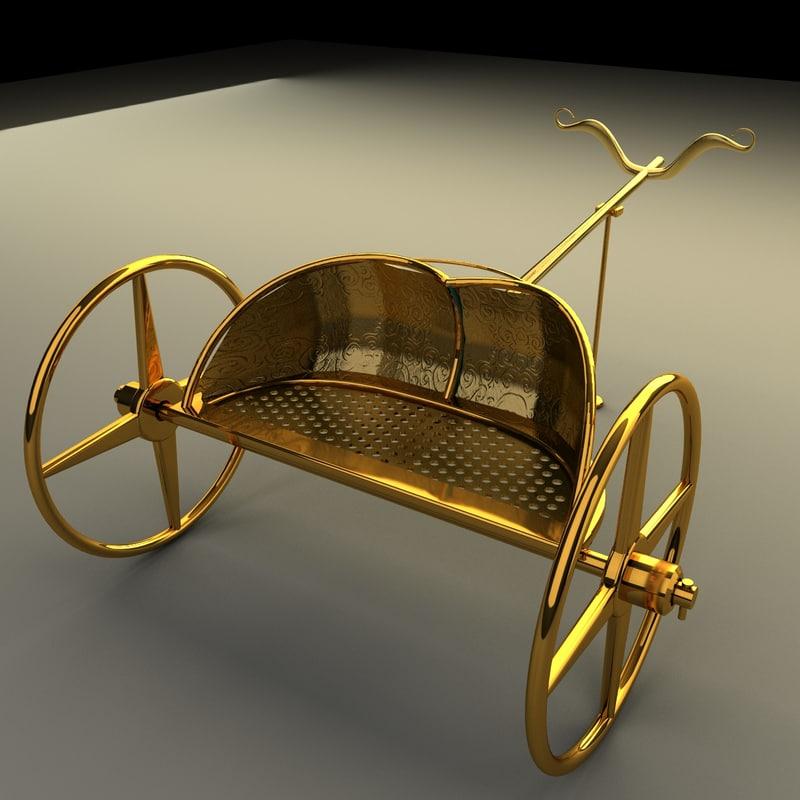 king chariot 3d model