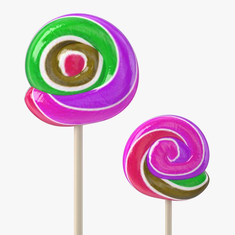 lollipop colors 3d model
