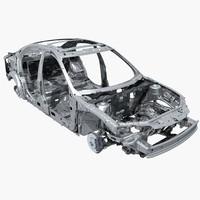 3d car frame model