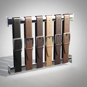 belts hanger 3d max