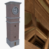 3d clock tower interior model