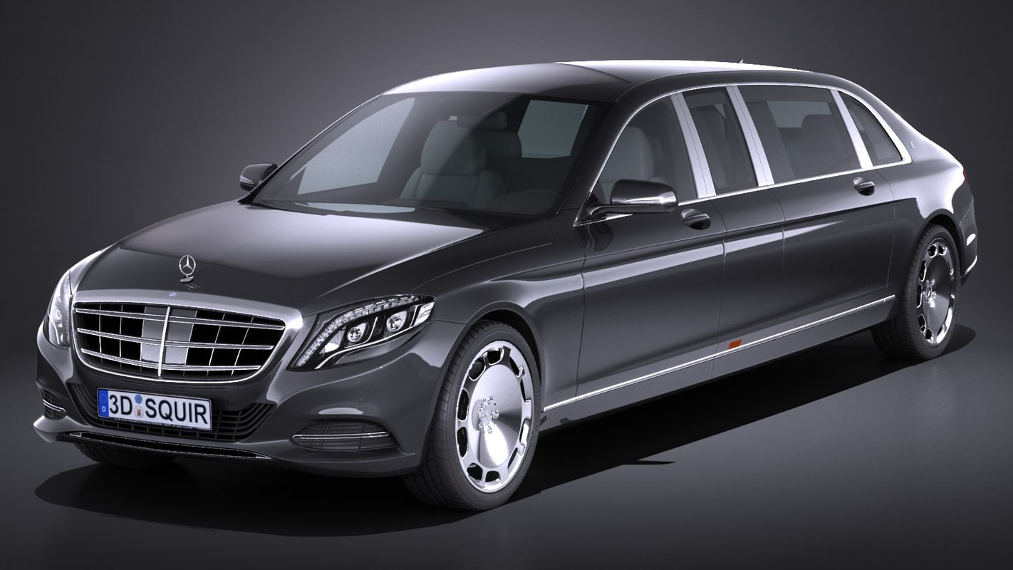 3d model mercedes s600 pullman for Mercedes benz s guard for sale