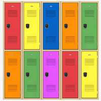 3d school lockers