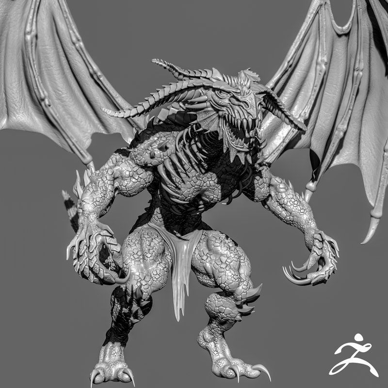 demon creature zbrush 3d obj