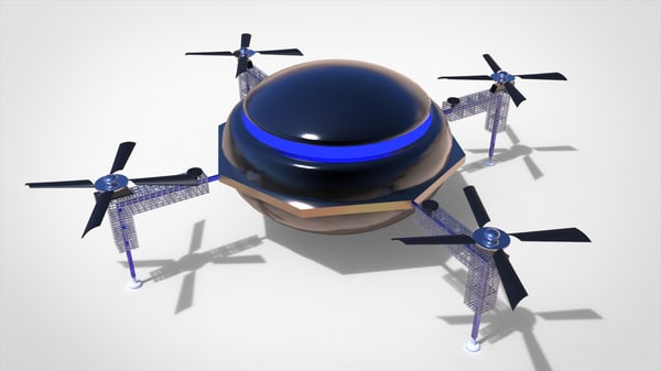 metal helicopter 3d model