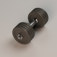 dumb bell dumbbell 3d model