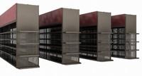 3d store shelving model