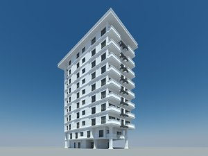 3d fbx classic apartment building