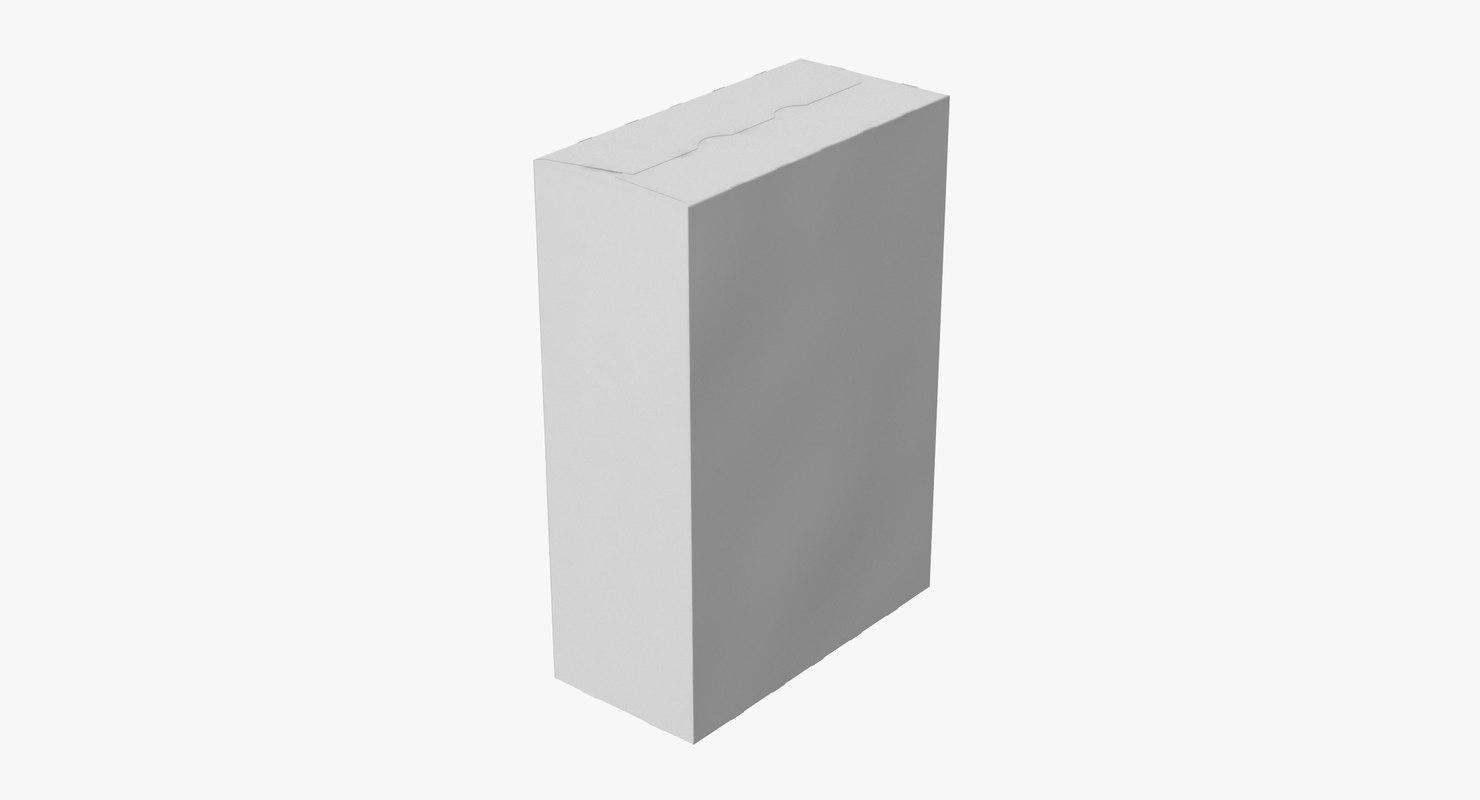 cereal box closed 3d model