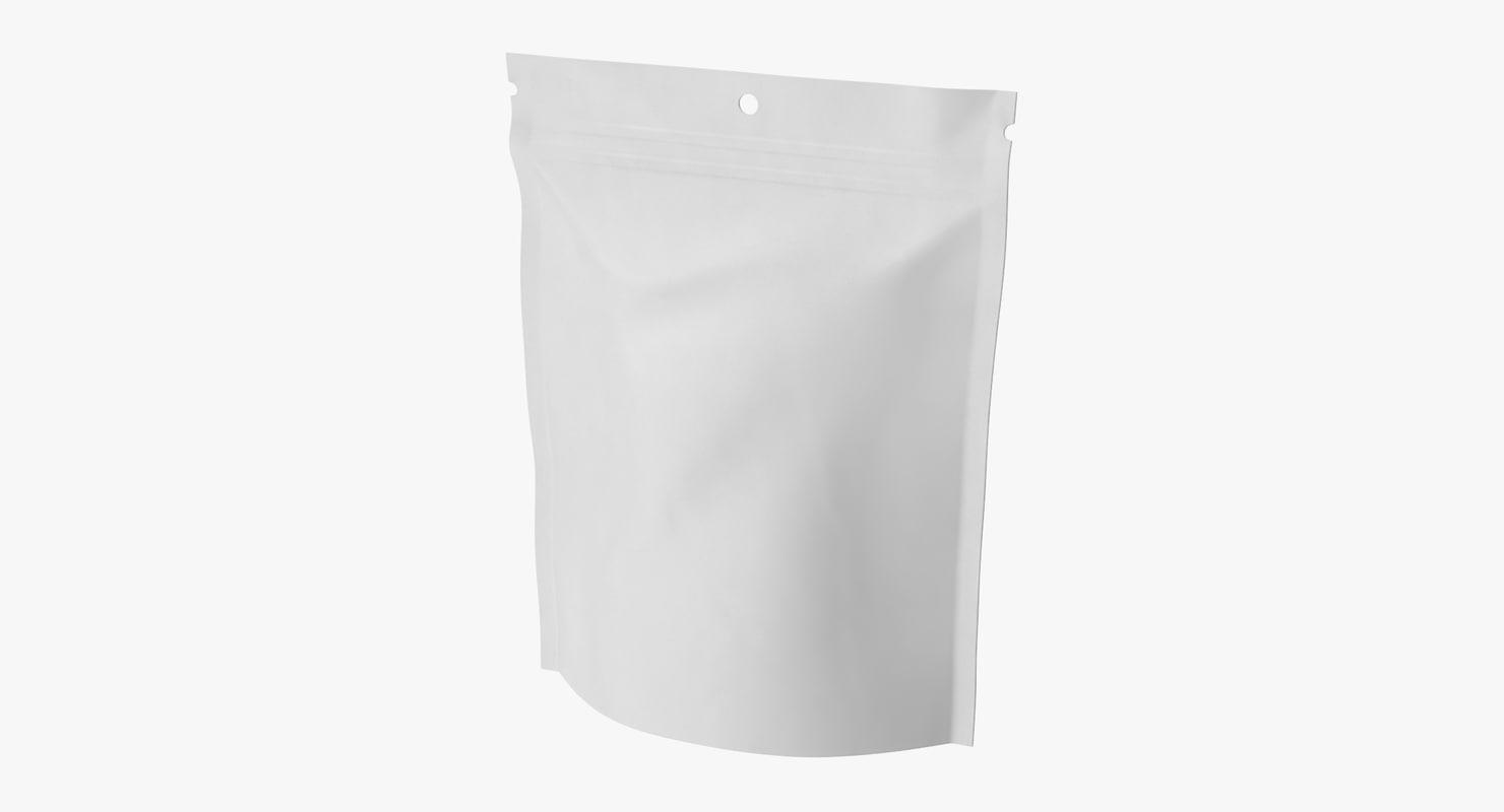 3d doypack pouch model
