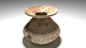 free clay pot 3d model
