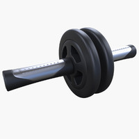 3d model double rollers exercices training