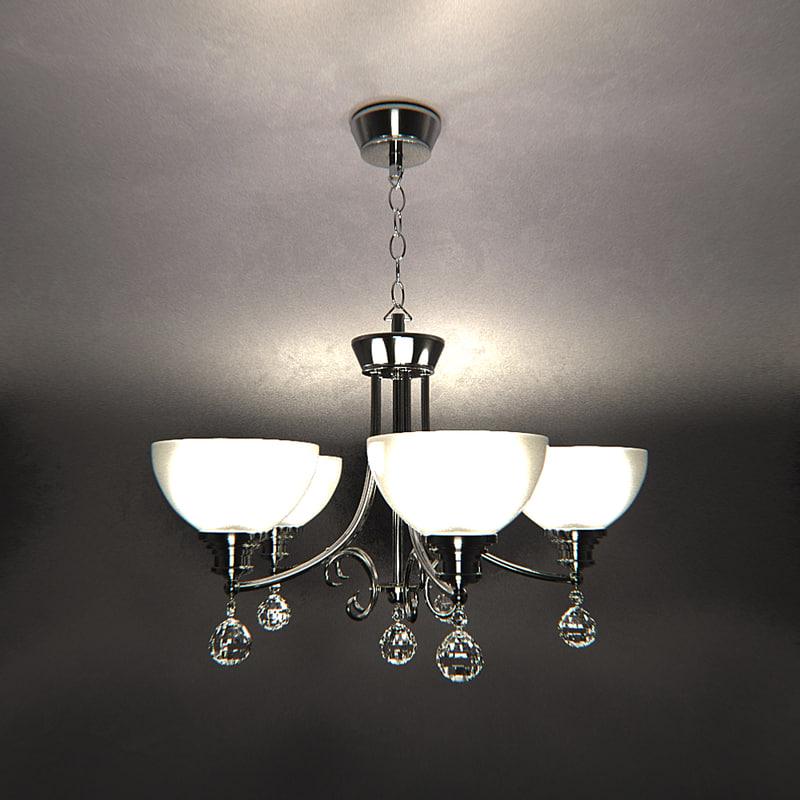 3d model chandelier mar-137015 5p