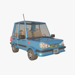 3d model cartoon car toon
