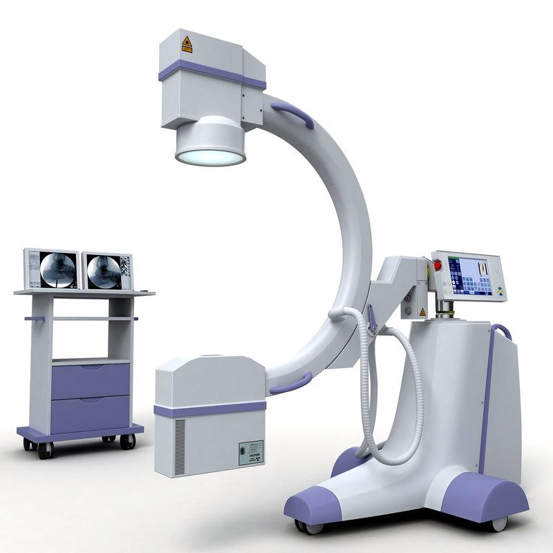 c-arm x-ray machine 3d model