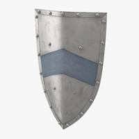 3d medieval metal shield