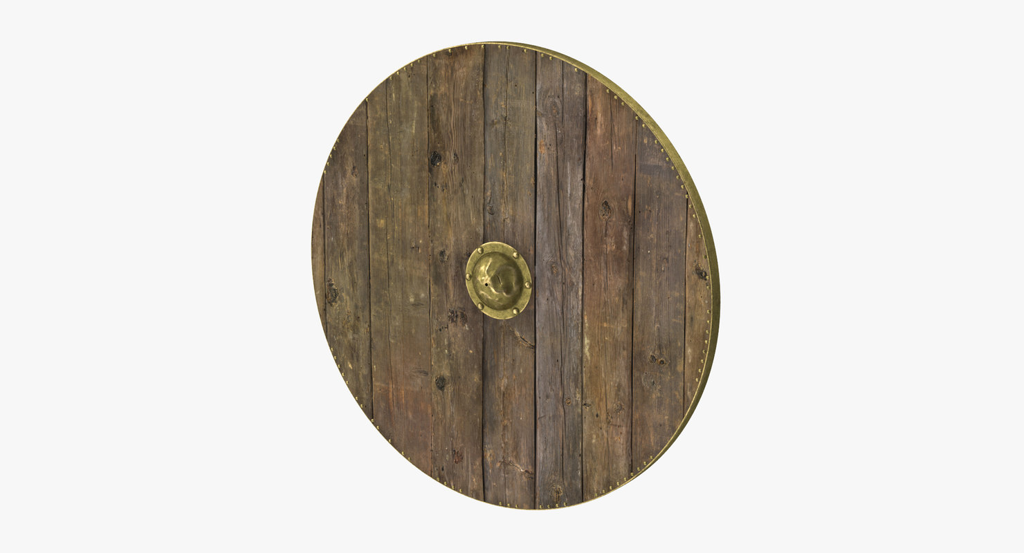 3d model medieval wood shield