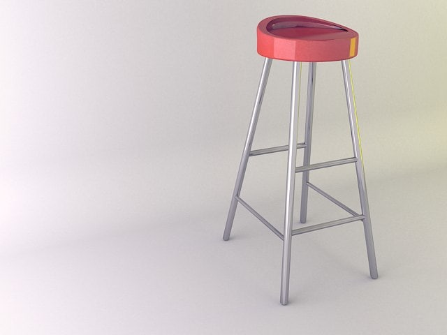 free max mode red bar chair