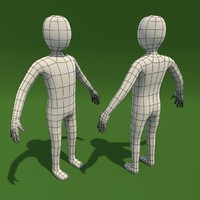 Cartoon Man Base Mesh