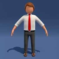 3d model of man cartoon