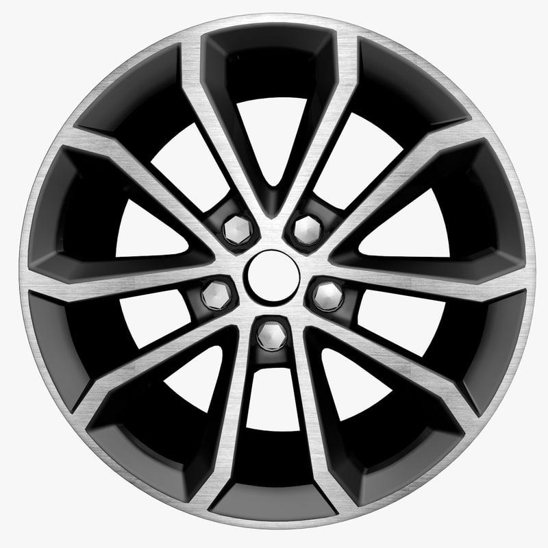 auto wheel c4d