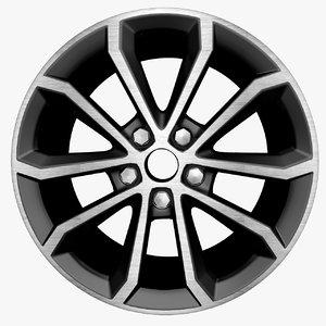 3d model auto wheel
