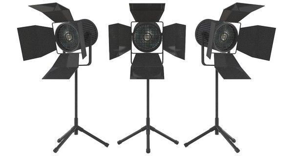 hd studio light 3d model
