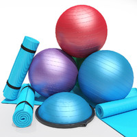 Fitness gym equipment set