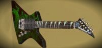 3d jackson kelly electric guitar