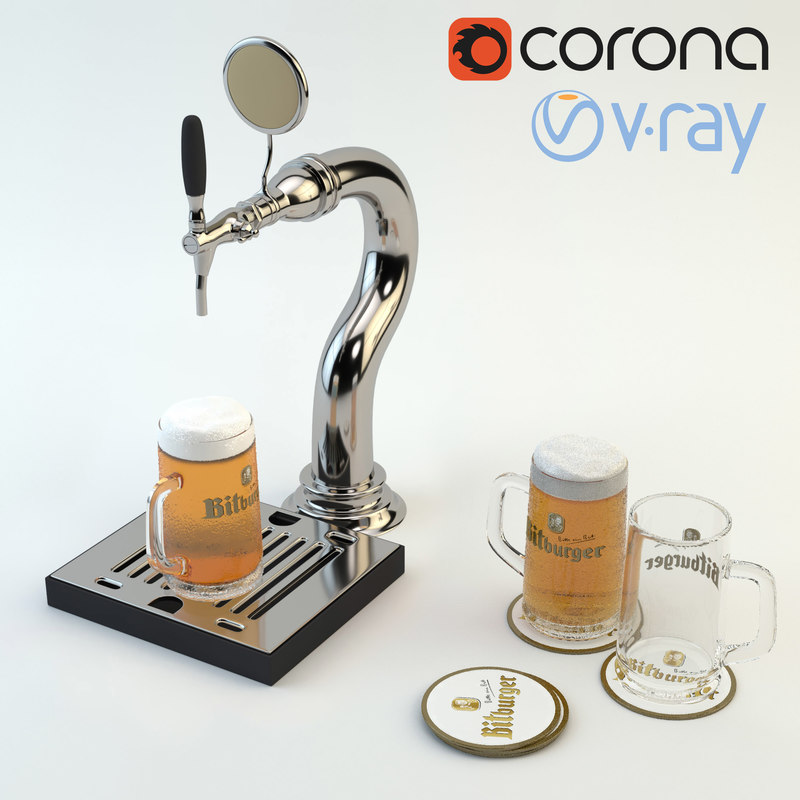 3d beer tap ready bar model