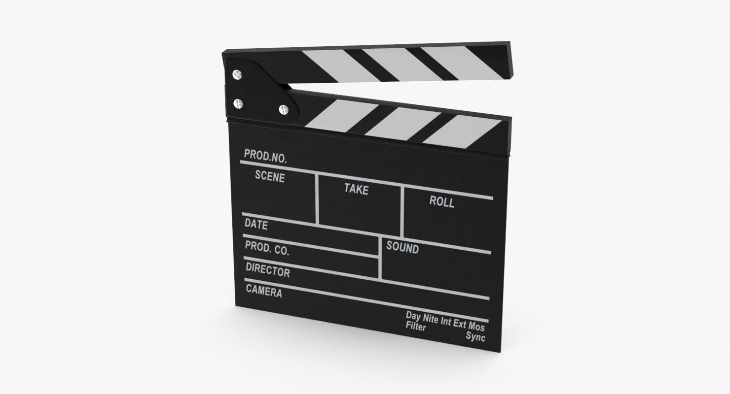 3d film slate model