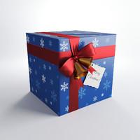 christmas gift 3d fbx